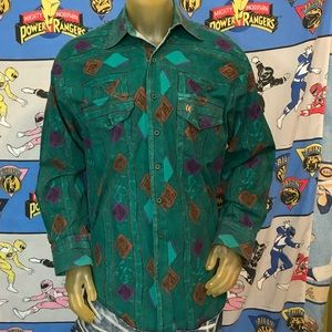 Vintage Faded The Look Western Button Up Shirt XL